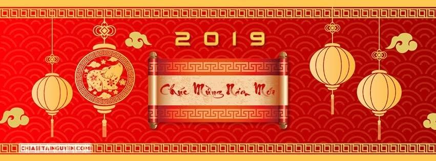 Ảnh bìa tết Chúc mừng năm mới 2019