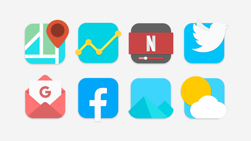 Flat Evo - Icon Pack Screenshot 1