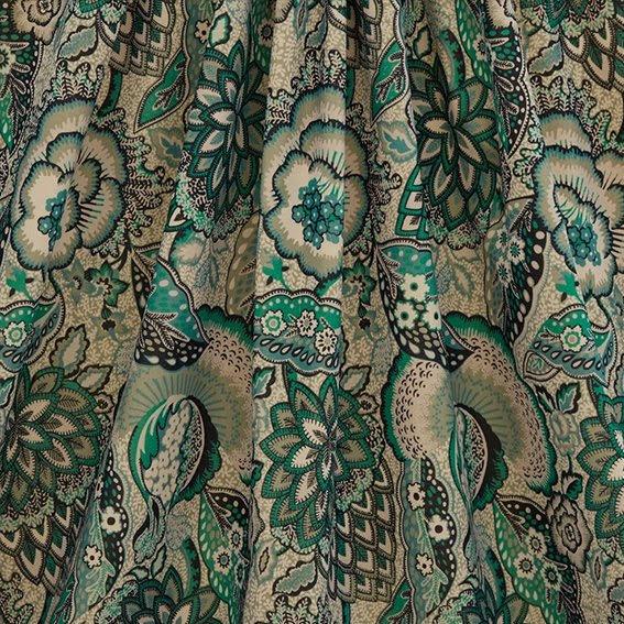 Patricia Cotton Velvet in Jade från Liberty Fabrics Interiors