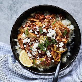 Greek Lamb and Cabbage Bowls {Paleo, Keto, Gluten-Free, Whole30}.
