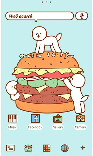 Funny Theme-Hamburger Bichon-