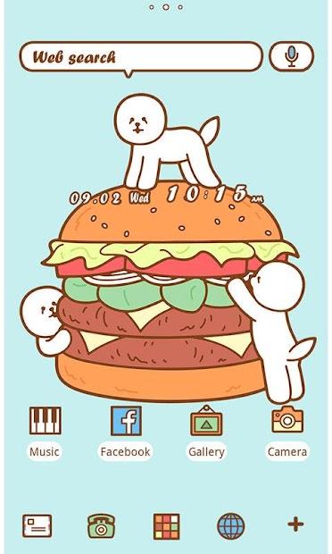 Funny Theme-Hamburger Bichon- Android App Screenshot