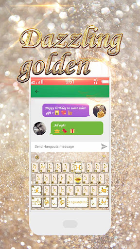 玩免費個人化APP|下載Dazzling Golden Kika Keyboard app不用錢|硬是要APP