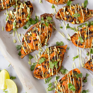 Mexican Stuffed Sweet Potato Skins