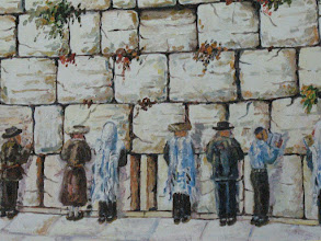 Photo: A painting of the Wailing Wall (Western Wall) (Klagemauer).