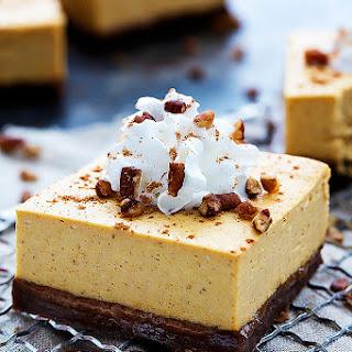 Pumpkin Cheesecake Bars with Gingersnap Crust Recipe