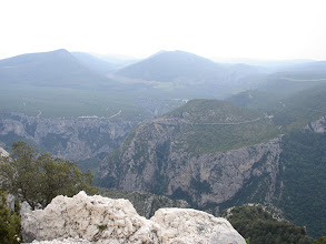 Photo: looking  South to the Artuby Plateau over the Verdon gorge
