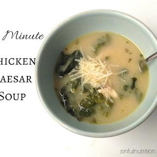 10 Minute Chicken Caesar Soup.