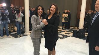 Las almerienses Marta Bosquet y Carmen Crespo.
