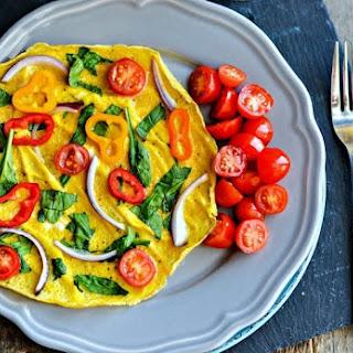 Easy Dinner Veggie Omelet.