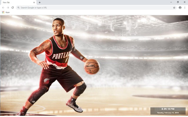 Damian Lillard NBA New Tab