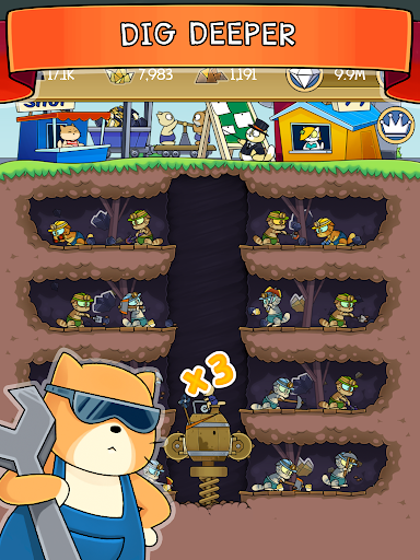 Dig it! - idle cat miner tycoon apktram screenshots 7