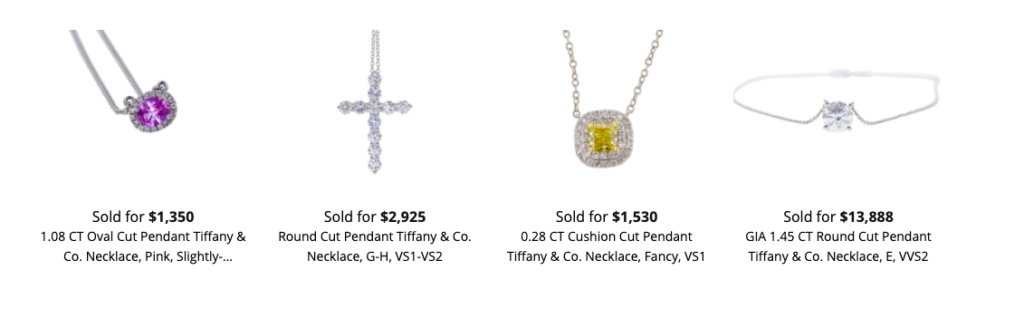 How much is a Tiffany necklace worth