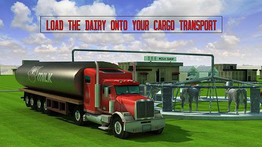 农场的牛奶转运货物3D