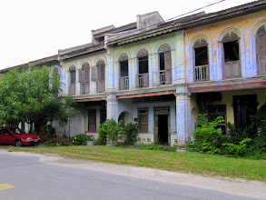 Photo: Year 2 Day 114 -  Row of Houses in the Abandoned Town of Papan