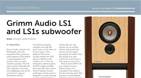 Audio Media loves Grimm Audio LS1 for mastering