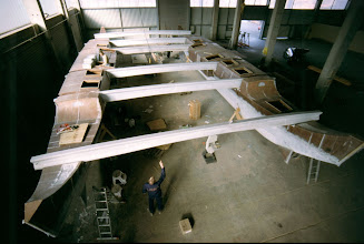 Photo: Beams put in for the first time: we have a CATAMARAN!