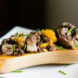 Bacon and Beef Stuffed Butternut Squash