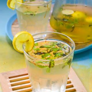 Saffron Ginger Mint Lemonade.