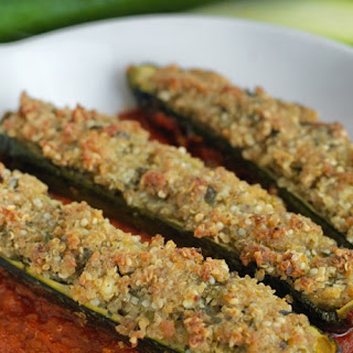 Quinoa Stuffed Courgette (Zucchini) Recipe