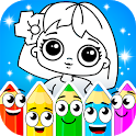 Coloring dolls. icon