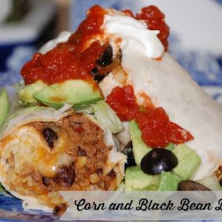 Corn Black Bean Burritos.