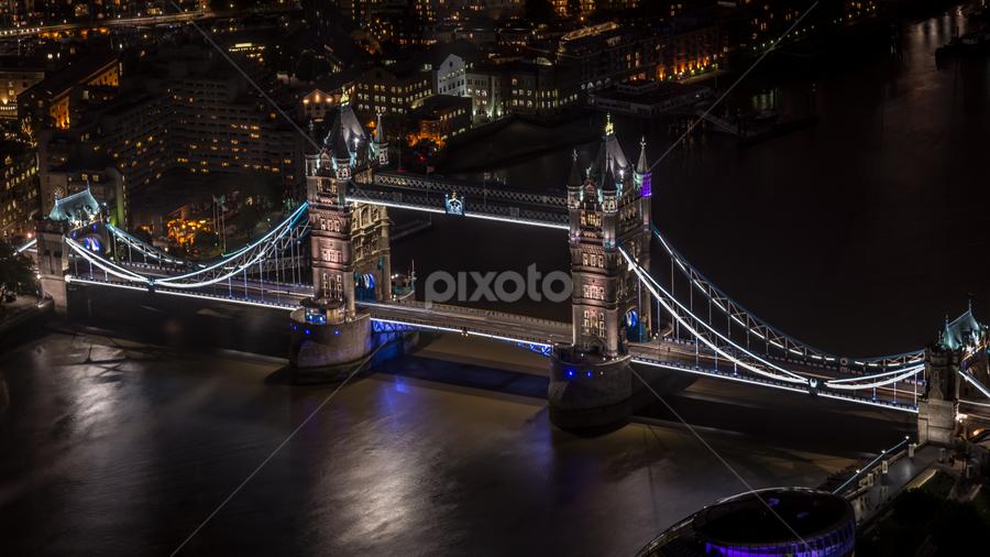 Tower Bridge by Craig Brady - City,  Street & Park  Historic Districts ( the shard, famous landmarks, london, tower bridge, night, bridge, city )