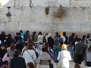 Photo: The ladies area of the Western Wall.