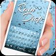 Blue Raindrops Keyboard Theme apk