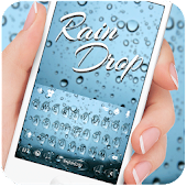 Blue Raindrops Keyboard Theme