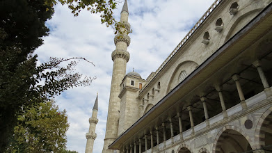 Photo: Minarets at the Mosque of Suleyman the Magnificent