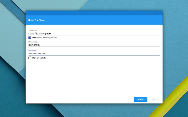 Network File Share for Chrome OS