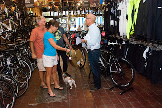 Photo: Greg and SanDee Gammon brought their dog, too