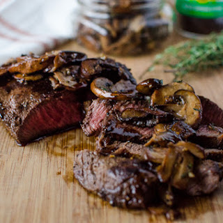Flat Iron Steak with Maple Bourbon Espresso Sauce + Pasture to Plate Tour