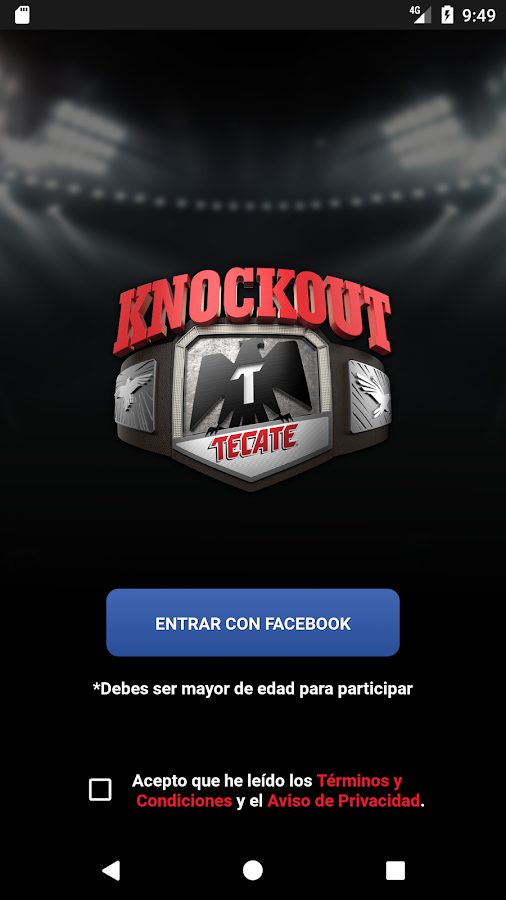 Tecate App- screenshot
