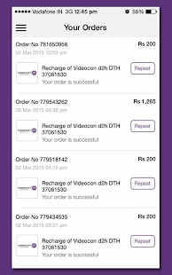 Videocon d2h Recharge- screenshot thumbnail