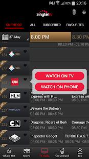 Singtel TV GO- screenshot thumbnail