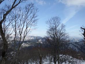 登山道で下山