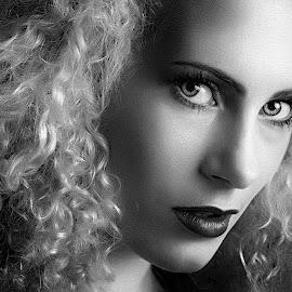 by Eric Gordon - Black & White Portraits & People ( headshot, monochrome, beauty, hair )