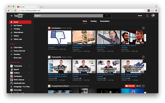 Image result for Dark Mode Youtube