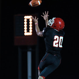 THE RECEIVER by Diana Cantey - Sports & Fitness American and Canadian football ( rose bud rambler football, diana cantey sports photography, diana cantey football photography, diana cantey photography, diana cantey,  )