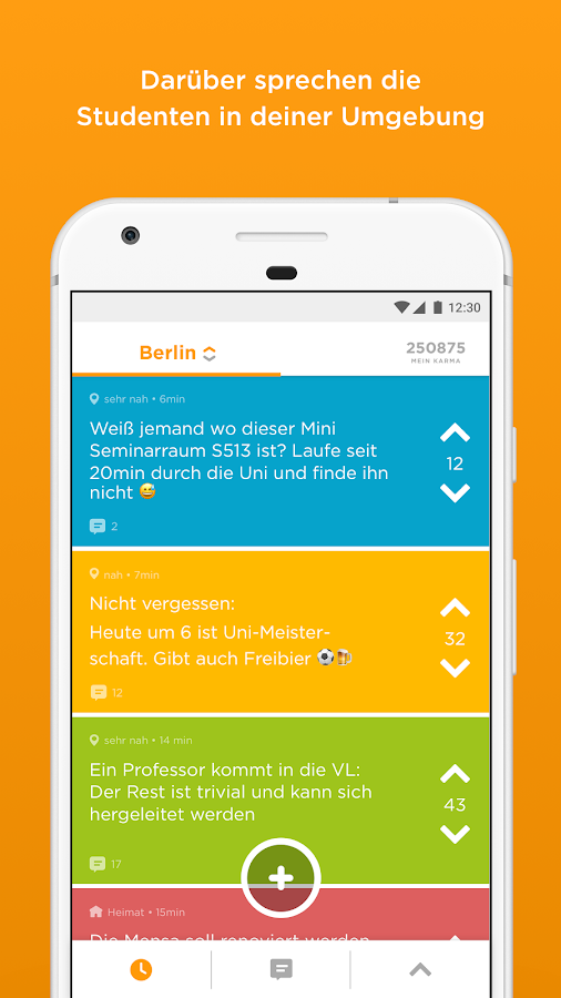 Jodel - Die hyperlokale App – Screenshot