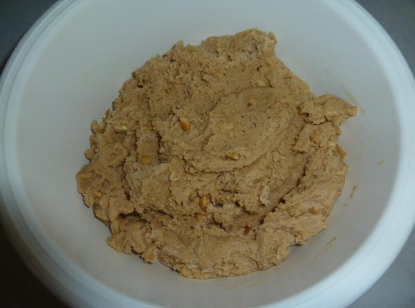 Add peanut butter to last bowl, mix well.