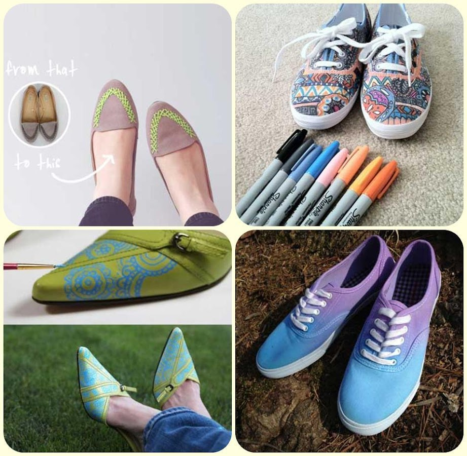 Diy shoes design ideas android apps on google play for Diy shoes design