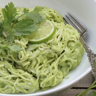 Creamy Vegan Cilantro Lime Noodles