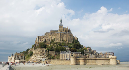 Mont St Michel is a medieval monastery, now a UNESCO World Heritage Site, perched on a rocky islet just off the coast of Normandy.