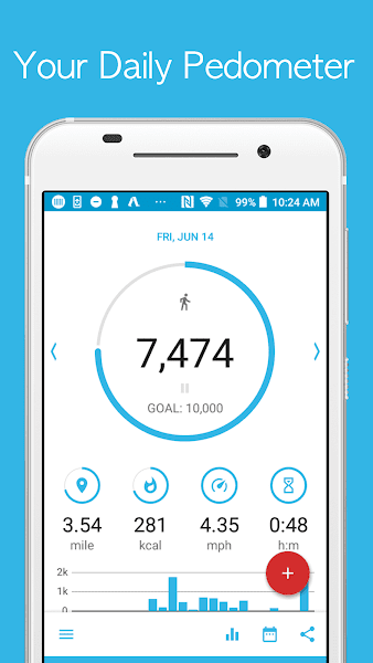 Accupedo – Pro Pedometer – Step Counter v8.4.9.G [Paid]