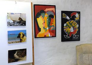 Photo: Finissage der Ausstellung Silvia Stuppäck (Foto) und Christa Trkal (Keramik) am 4.1.2014. Foto: Barbara Zeininger