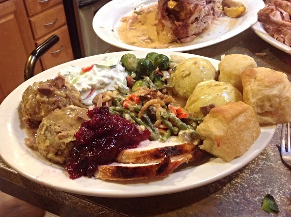 Serve the stuffing with Giblet Gravy, and Enjoy a nice meal.