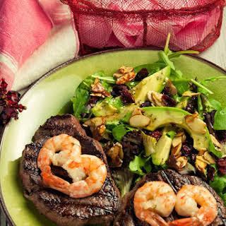 Beef Tenderloin And Shrimp.